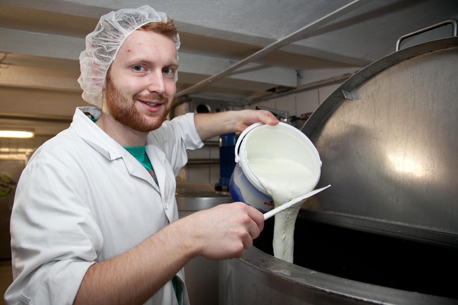 für das Eis wird Bio-Joghurt verwendet