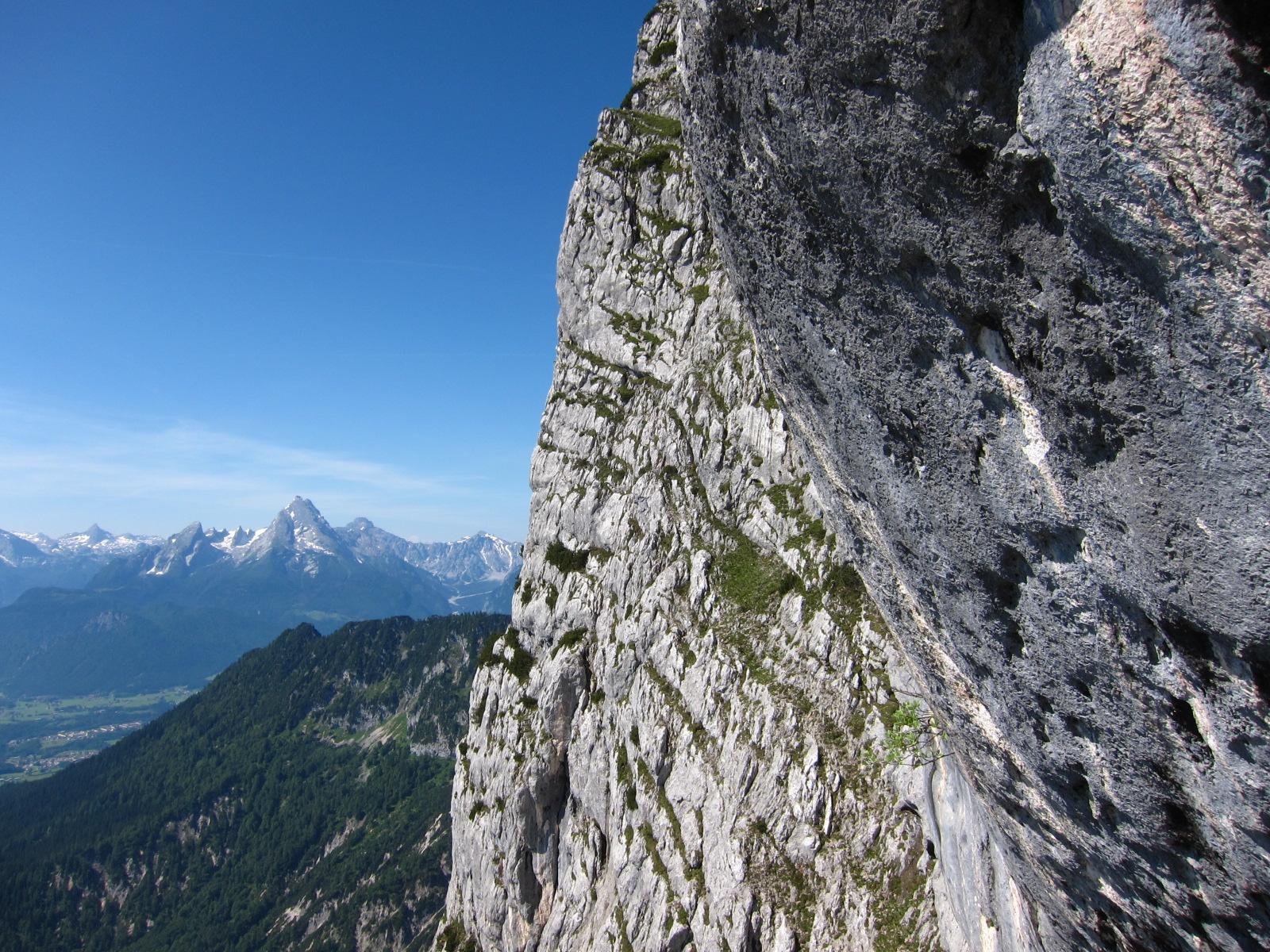Rast am Klettersteig