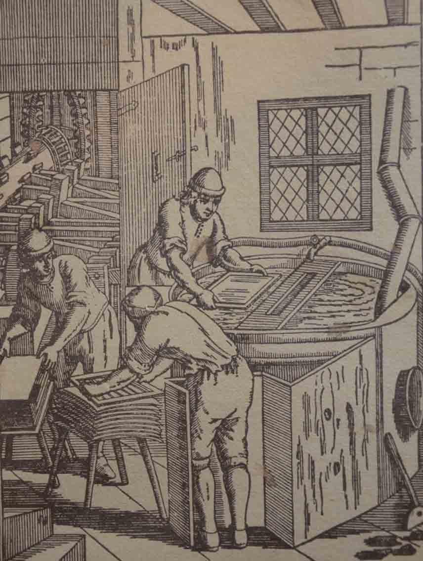 Papierschöpfen einst