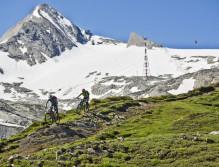 Action auf den Kitzsteinhorn-Trails.
