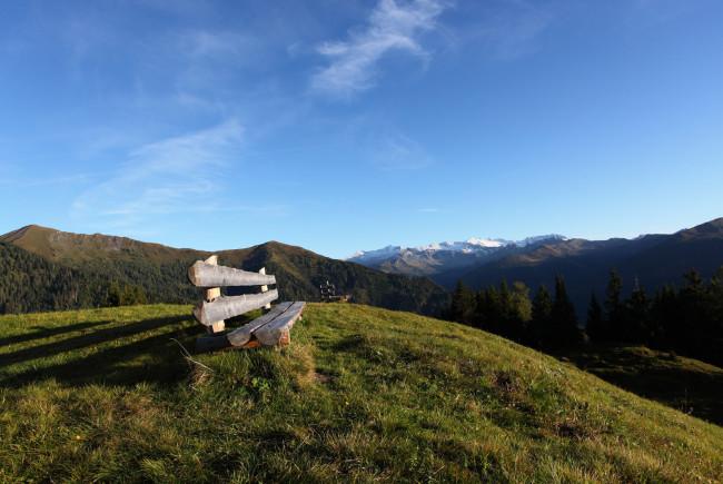 Inmitten der Alpen lässt es sich wunderbar rasten