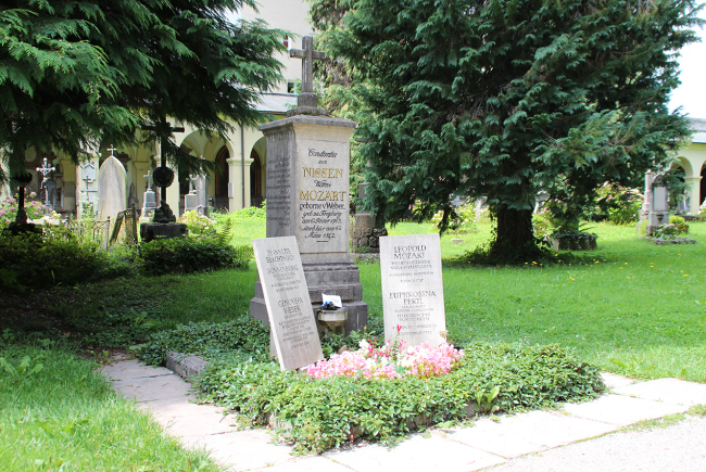 Das Mozart-Familiengrab.