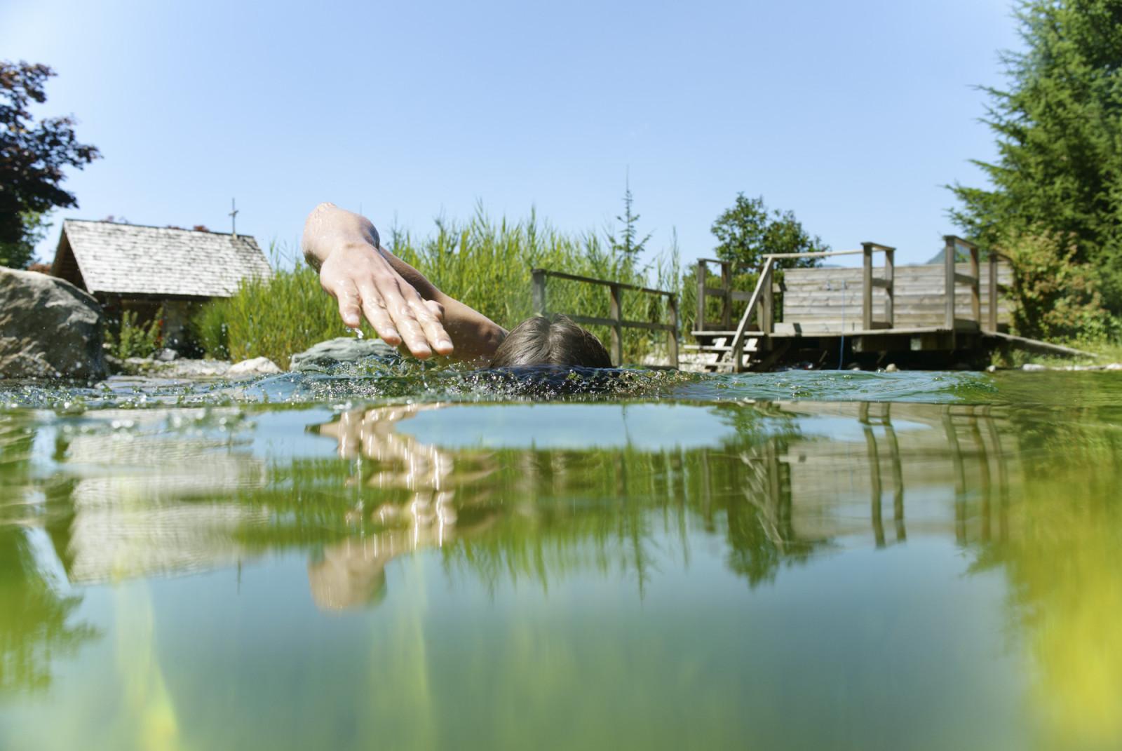 Abtauchen im Naturbadeteich