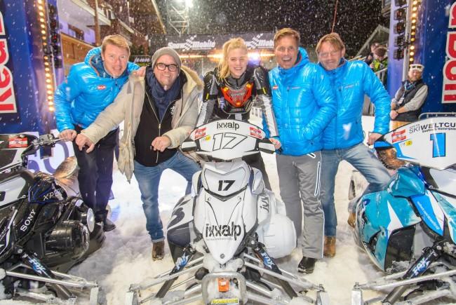 Snow Mobile, Saalbach-Hinterglemm, 6.12.2014, Mika HÄKKINEN, DJ ÖTZI, Larissa MAROLT, A WERNIG, Dieter BOHLEN