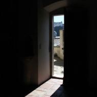 Aussicht auf die Salzburger Festung von der St. Johannes Kirche aus.