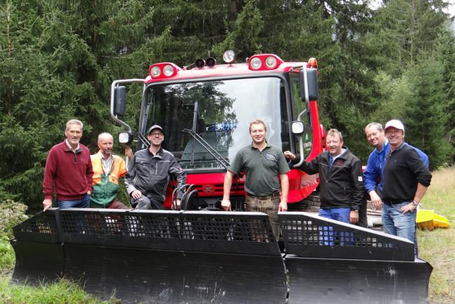 Die Initiatoren der Projektgruppe Skiroute:  v.l. Peter Wittner, Josef Zehentner, Ingo Dürlinger, Thomas Schmiderer, Erich Mayr, Christian Steiner und Fritz Unterganschnigg.