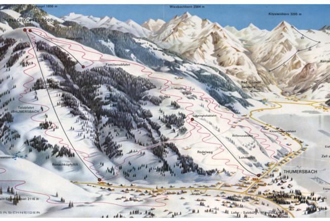 Das Skigebiet in den 60ern