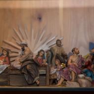 Szenen aus der Heiligen Nacht - eine Momentaufnahme für weihnachtliche Wohnzimmer.