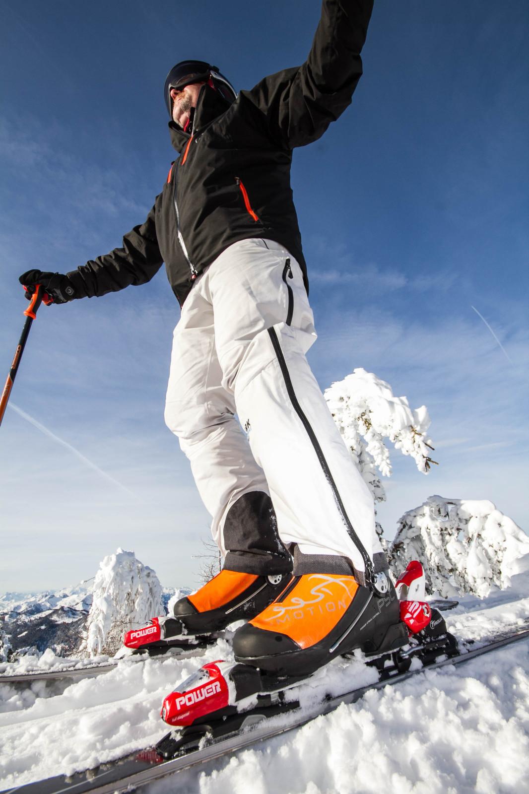 Mit dem Skischuh erlebt man ein völlig neues Fahrgefühl.
