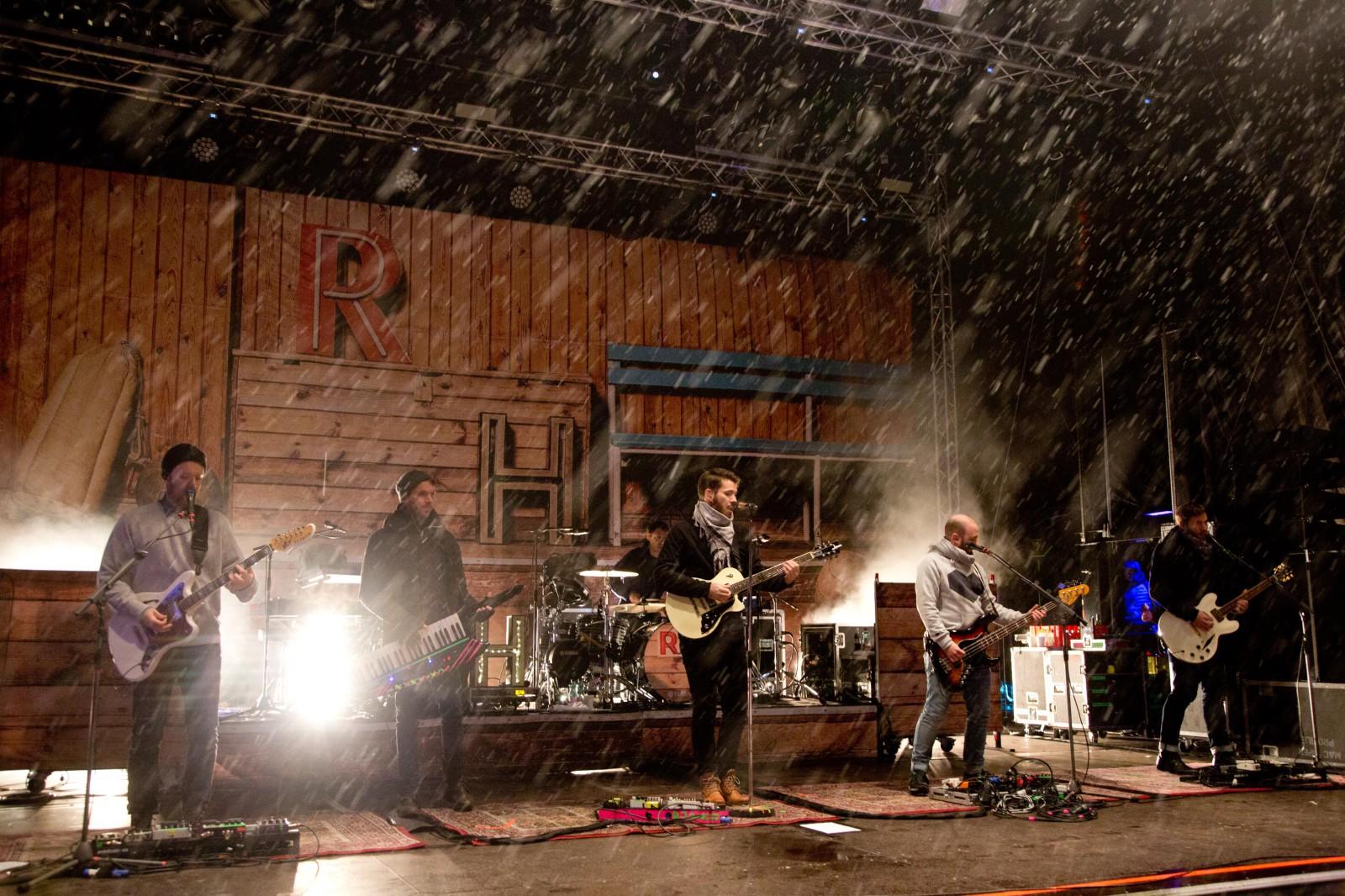 Revolverheld im Schneetreiben