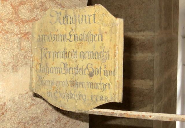 Reparaturtafel vom Halleiner Dürrnberg