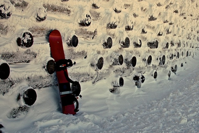 Urbanes Snowboarden am Untersberg