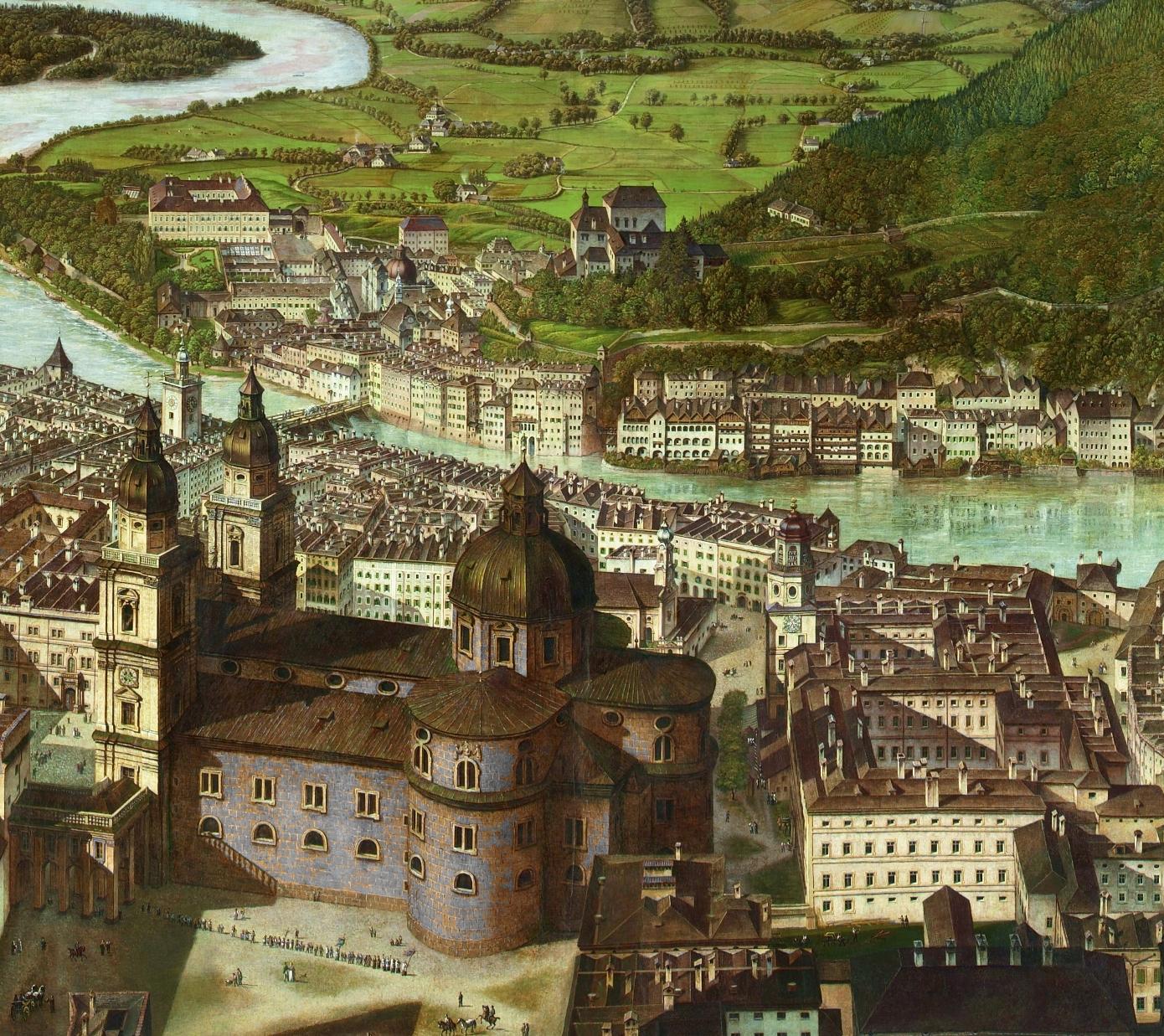 Detaillierte Ansicht der Innenstadt ©Salzburg Museum