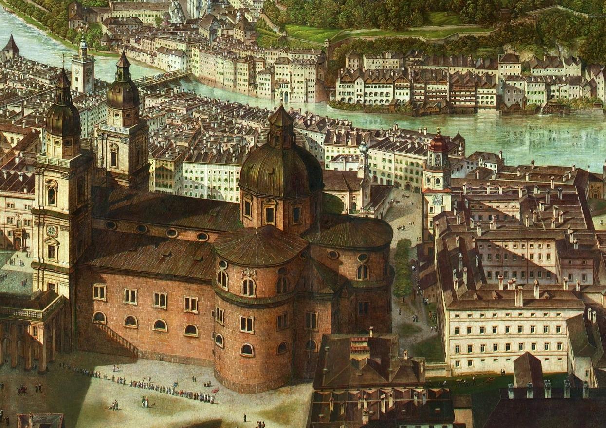 Der Dom im Sattler-Panorama ©Salzburg Museum