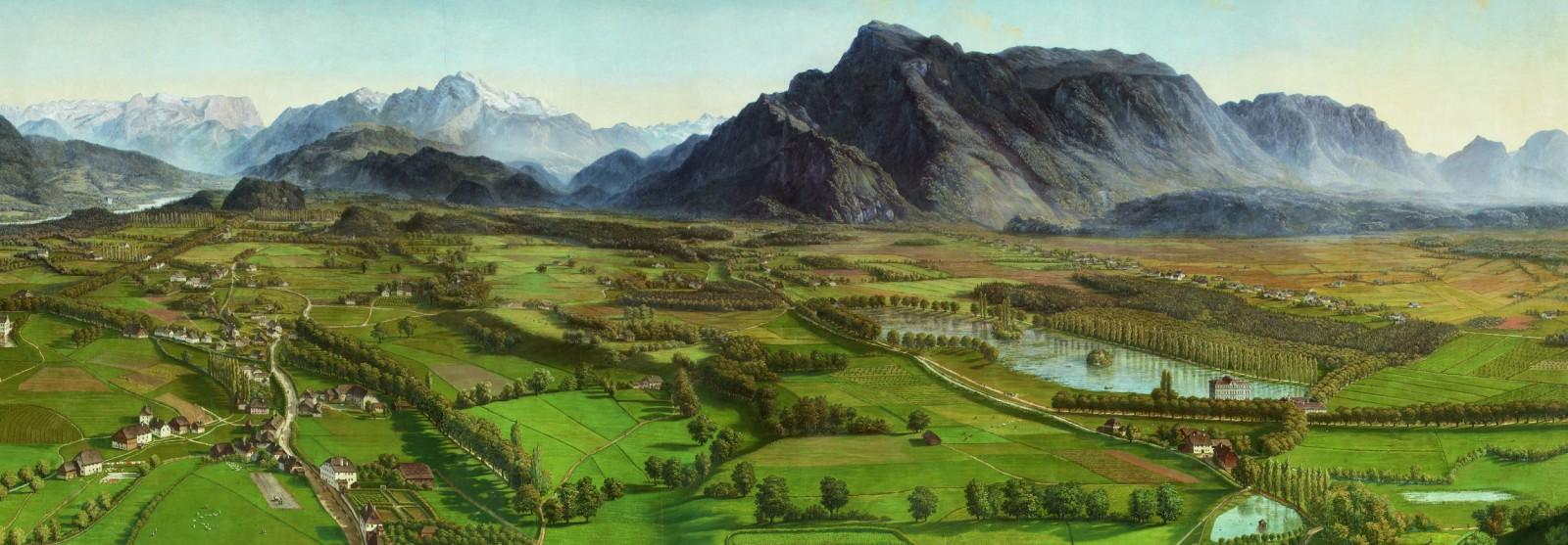 Der Untersberg und das Tennengebirge ©Salzburg Museum