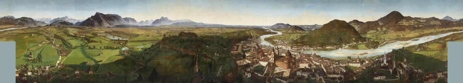 Das Sattler-Panorama ©Salzburg Museum