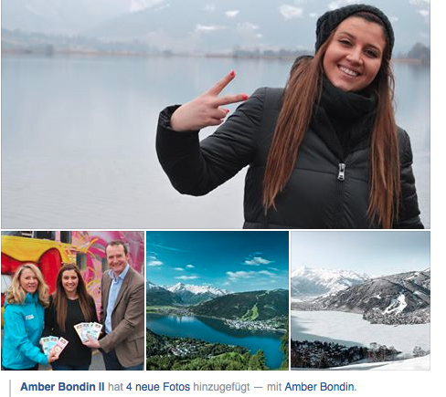 Ambers Facebook-Posting kurz nach ihrer Abreise
