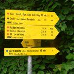 Wegweiser zur Ruine Thürndl und zu den Barmsteinen