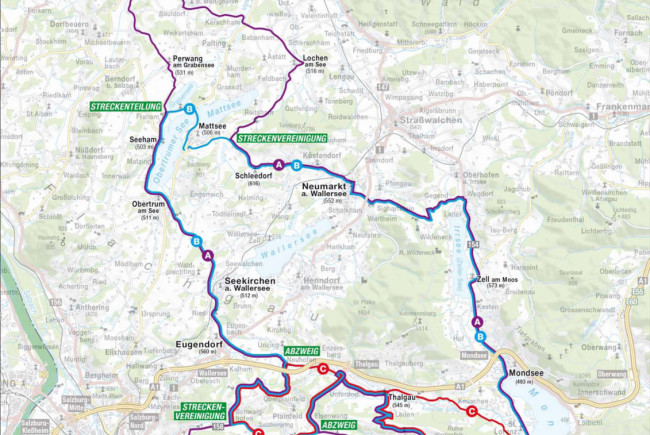 Auf drei Strecken geht's am 13. September durch das wunderschöne Salzburger Seenland.