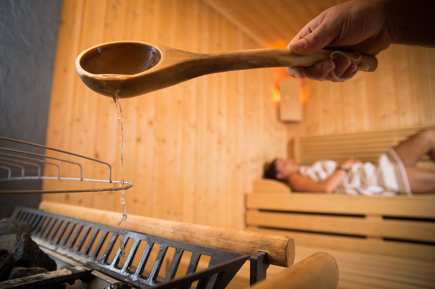 Die finnische Sauna zum Entspannen.