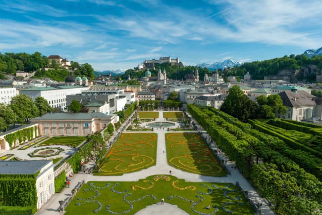 Blick über den Mirabellgarten auf das barocke Salzburg ©Tourismus Salzburg