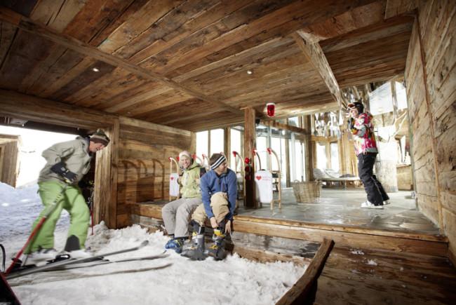 Ski-In ist in diesem Hotel wörtlich gemeint!