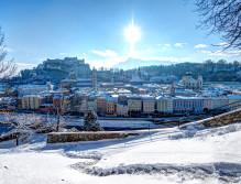 Blick vom Kapuzinerberg auf die Festung. (c) Salzburg Tourismus