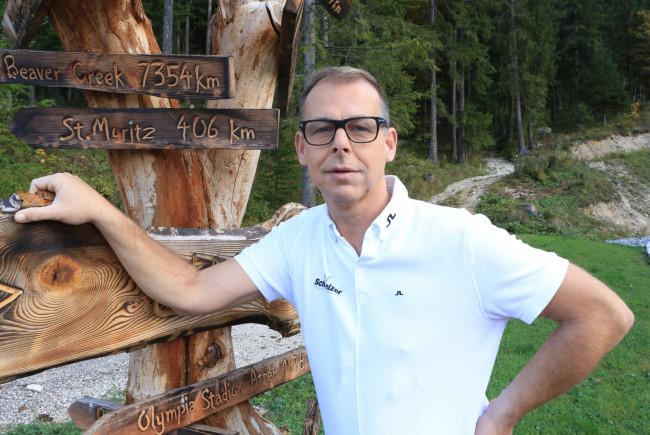Gernot Schweizer in seinem 'Trainingsparadies'