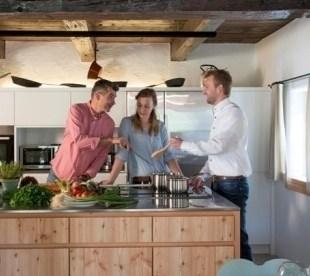 In der modernne Küche ...