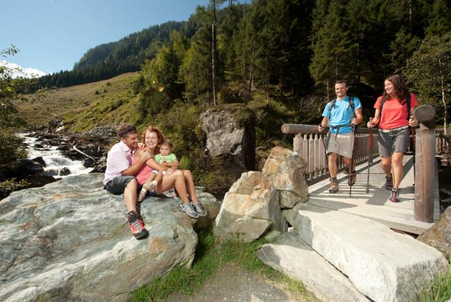 Der Smaragdweg im Habachtal bei Bramberg.