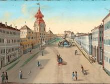 10 Der Mirabellplatz vor dem Brand 1818 (Wurzer)