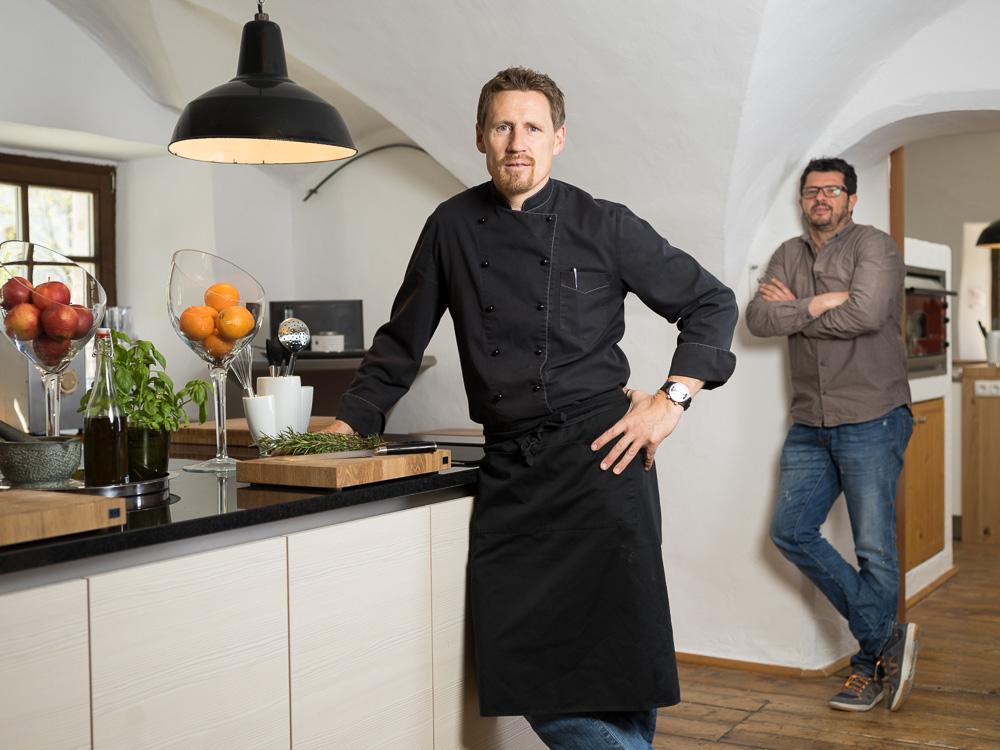 Thomas Schwab in einer seiner Schauküchen in der Speisenmeisterei. c Klaus Bauer