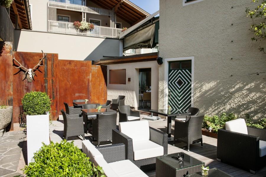 Die stylische Lounge des Haubenrestaurants