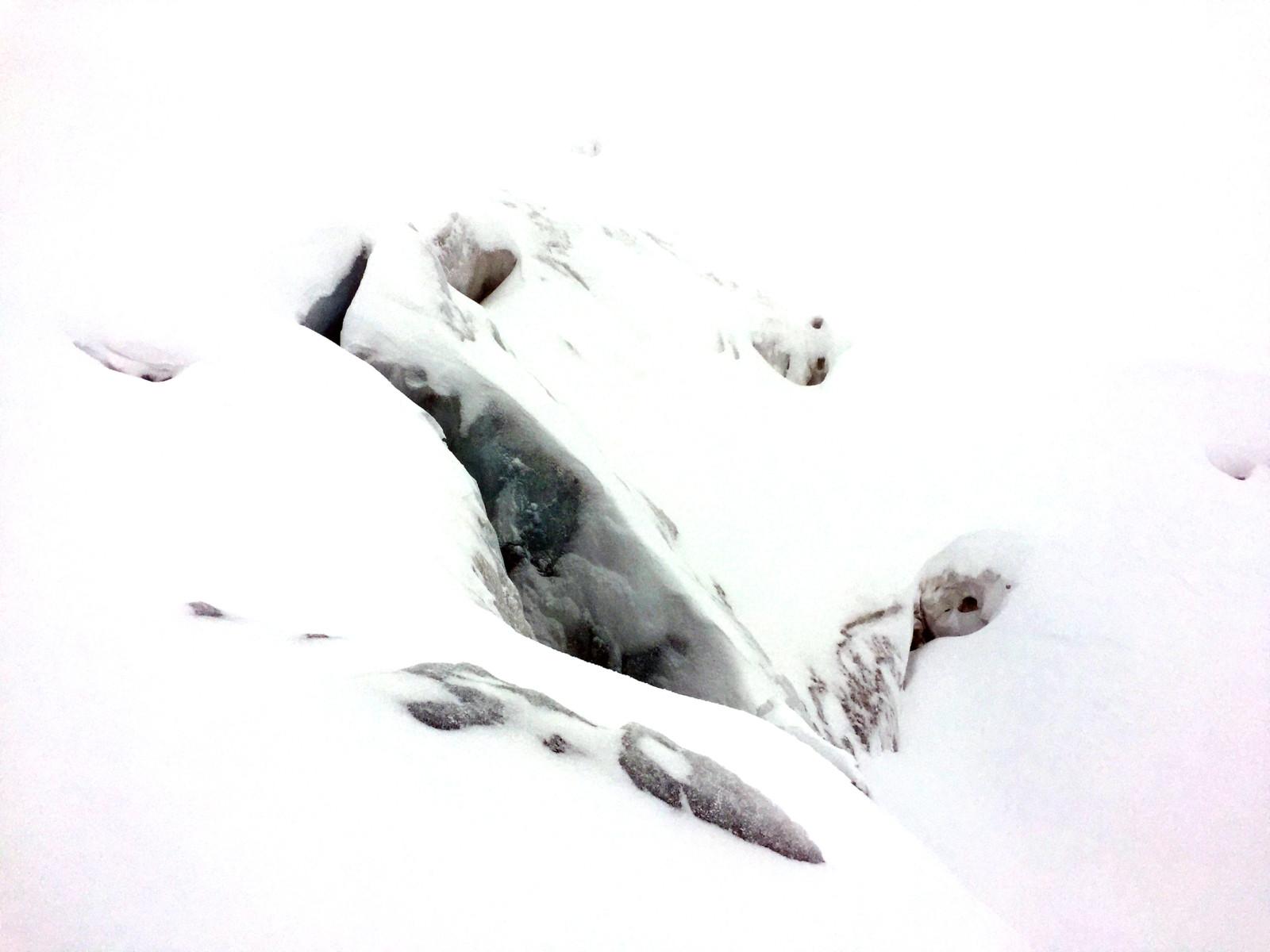 Eine Gletscherspalte.