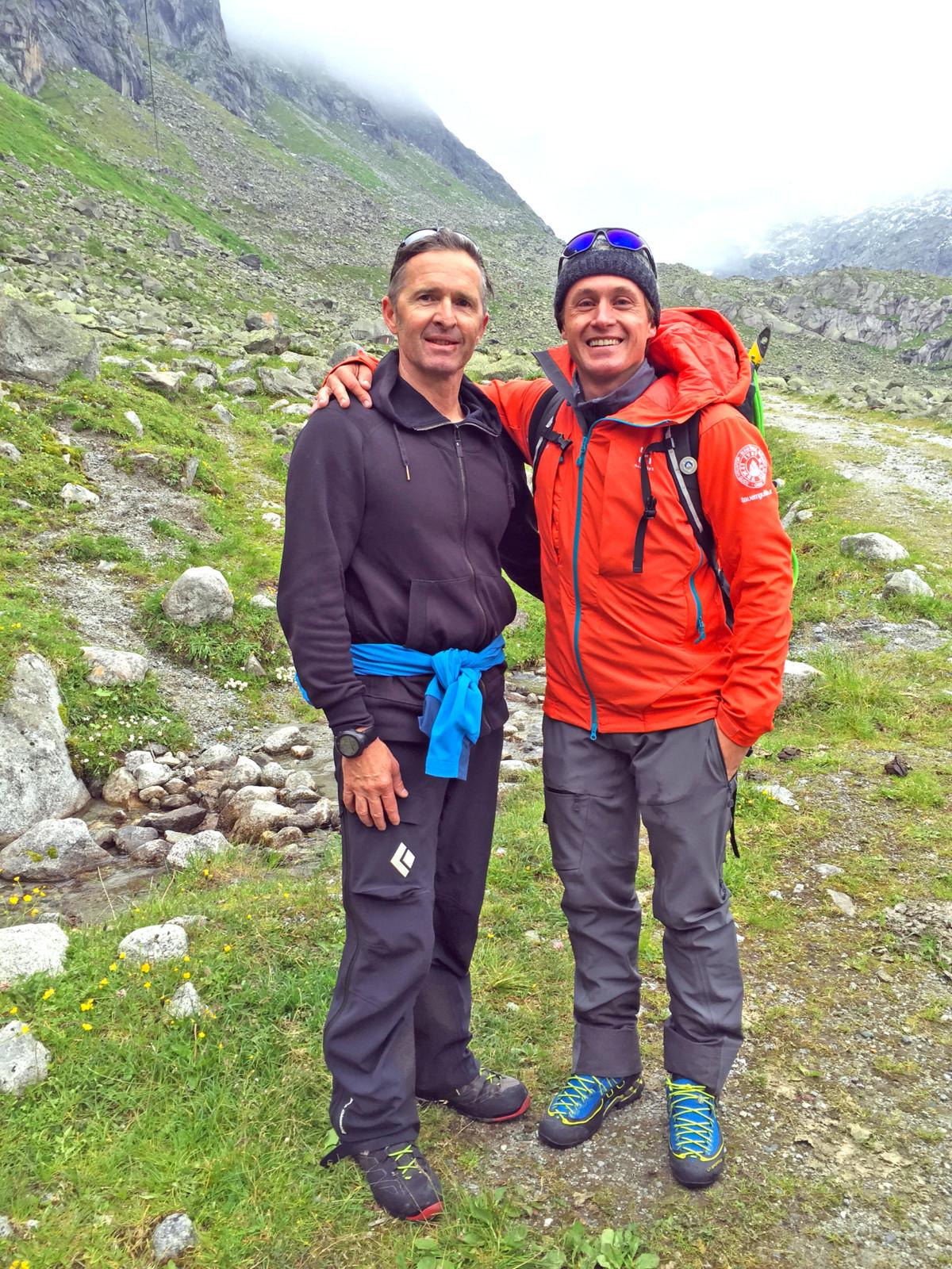 Sie haben uns sicher hinauf und wieder hinunter gebracht: Unsere Bergführer Manfred Reitsamer und Hans-Peter Breuer.