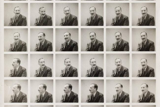 Passbilder-Collage Stefan Zweigs ©Stefan Zweig Center
