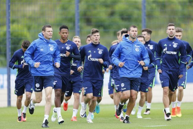 Die Mannen von Schalke 04 beim Training FC Schalke 04 / Karsten Rabas