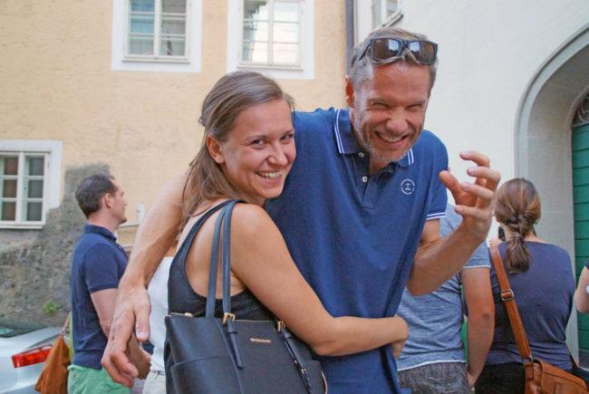 Begeisterte Zuhörer: Sonja Mittermayer und Markus Berger gruseln sich gern.