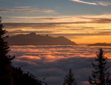 Früh aufbrechen lohnt sich in unseren Bergen immer. Hier eine Morgenstimmung am Weg zum Hochkönig (Foto: Coen Weesjes)