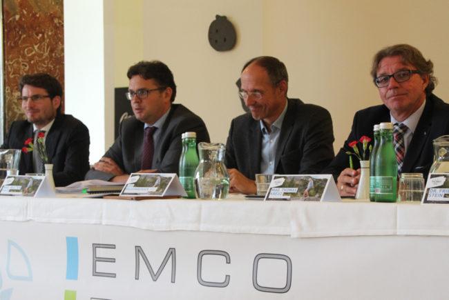 Walter Haas (Projektentwicklung SLT), Christoph Köstlinger (Geschäftsführer Gasteiner Heilstollen) und Thomas Kreuz (Geschäftsführer EMCO Privatklinik)