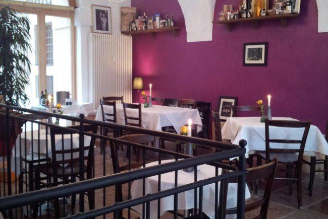 Gemütlich und stilvoll: Das Restaurant.
