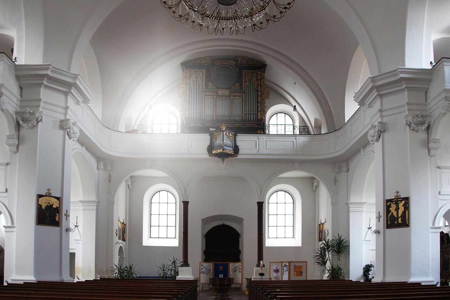 Die Orgel in der Pfarrkirche.