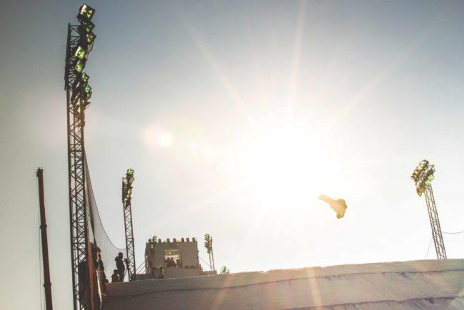 """""""Ins Rampenlicht fliegen wollen die beiden Salzburger Mathias Weissenbacher und Alois Lindmoser - und dabei bestenfalls unter die besten 15 Athleten, um gute Chancen auf Olympia 2018 zu haben.""""  [© allrounder.de]"""
