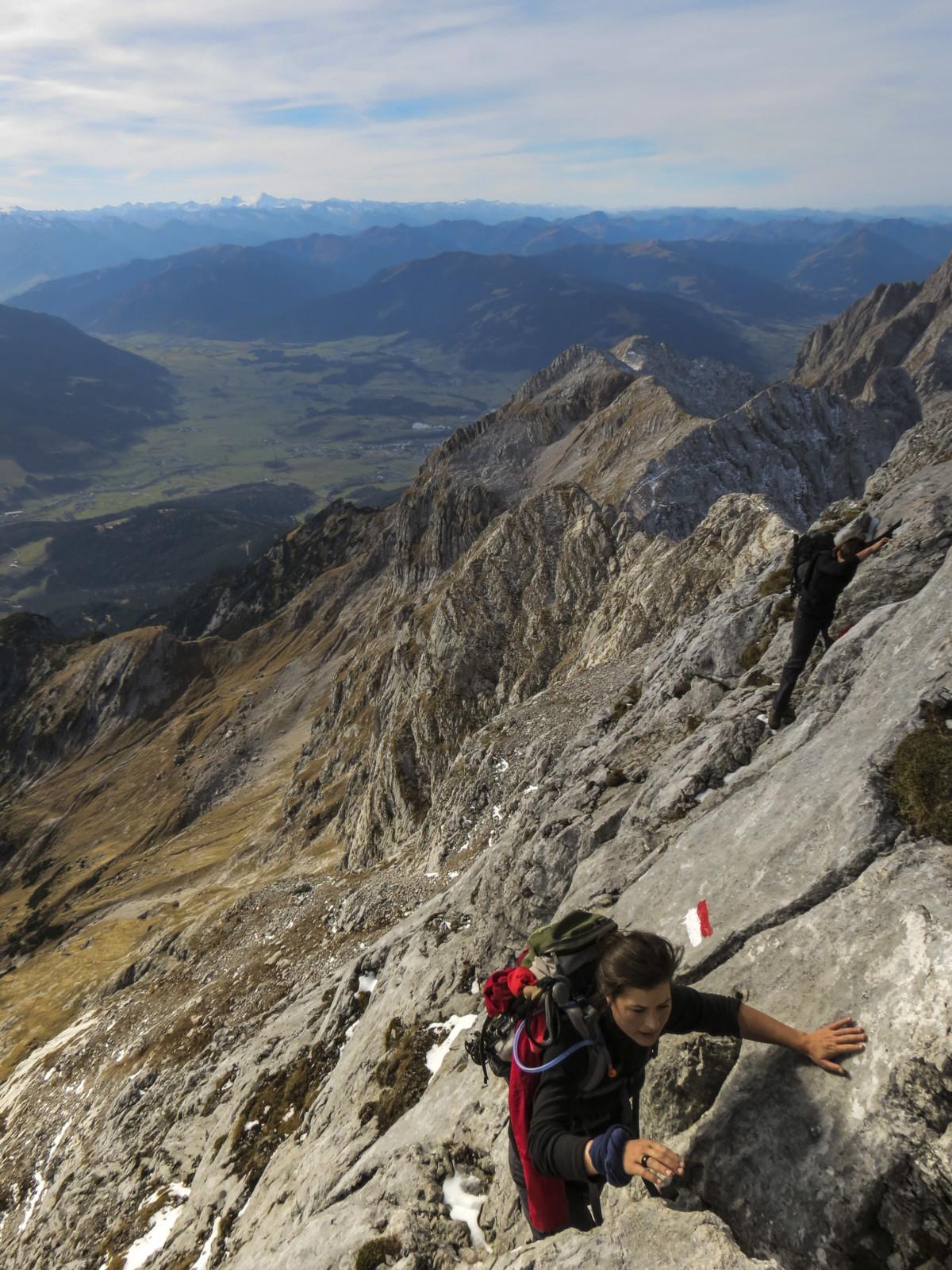 Steiler Aufstieg zur Schönfeldspitze