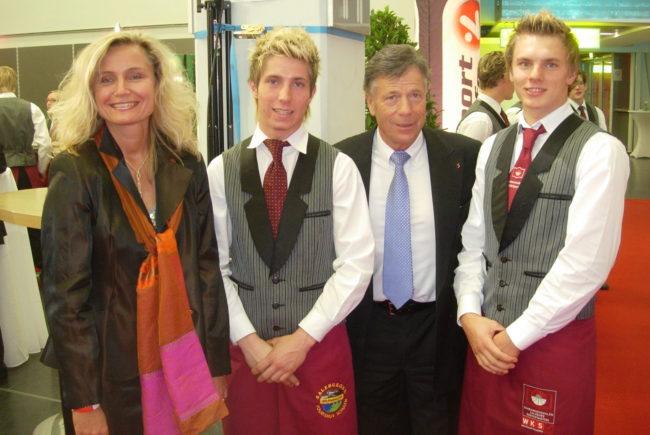 Galanacht des Sports 2006 mit Präs. Schröcksnadl, Marcel, Markus Rauter und der Autorin