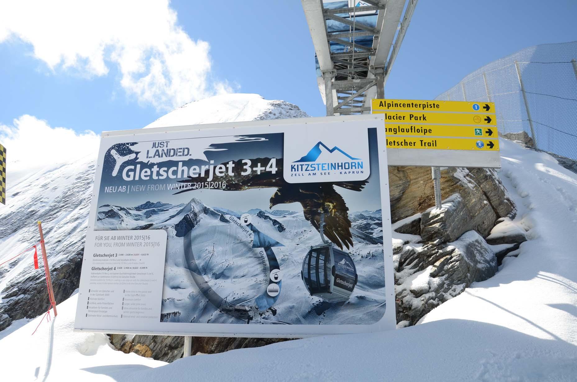 Ewiges Eis auf dem Gletscher
