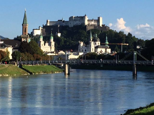 Salzach mit Stadt Salzburg