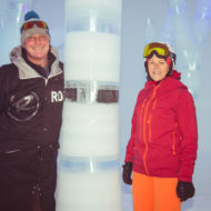 Andy Tremschnig und Kitz-Marketingleiterin Maria Hofer im Frozen Forest.