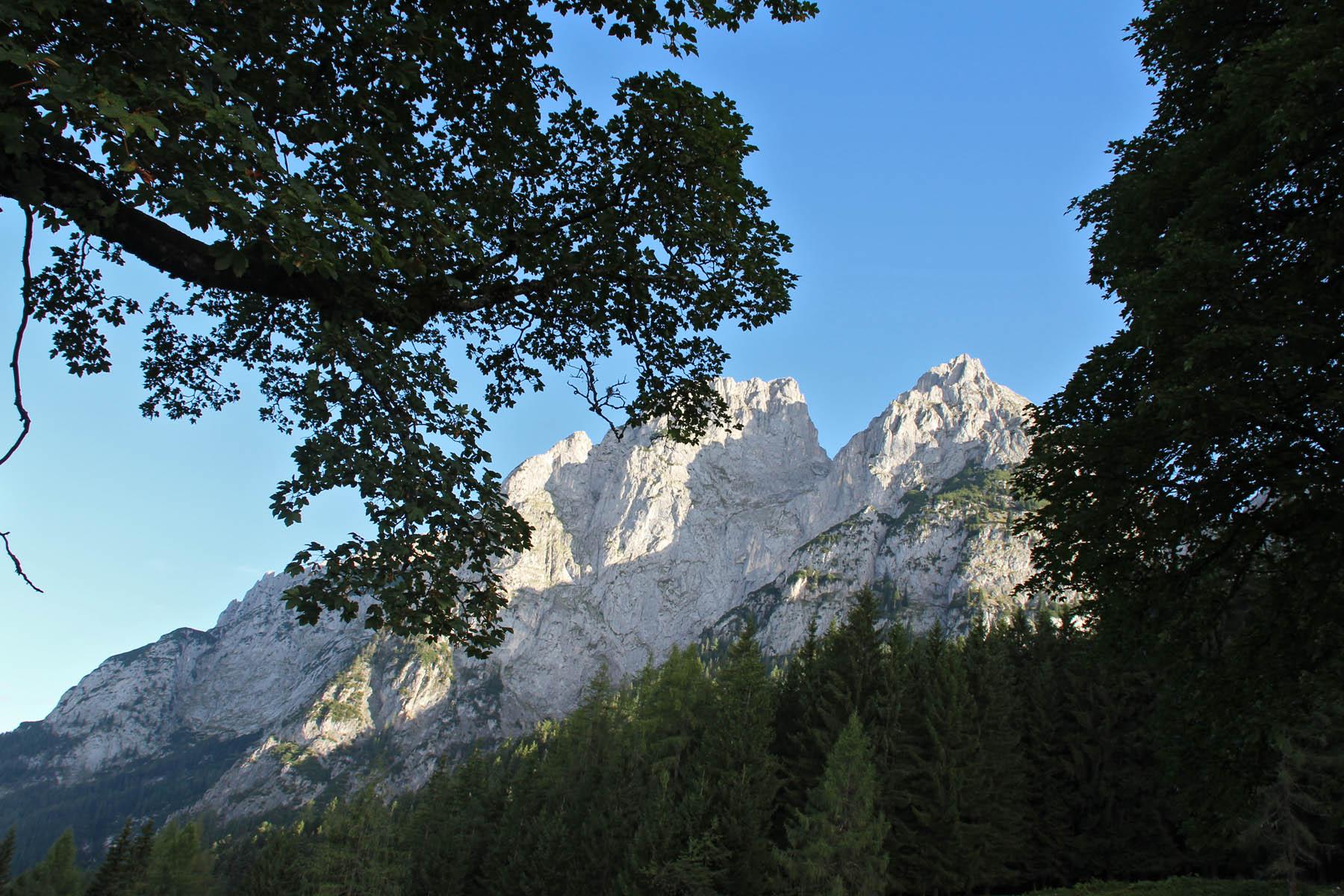 Das Tennengebirge bei der Mahdegg Alm