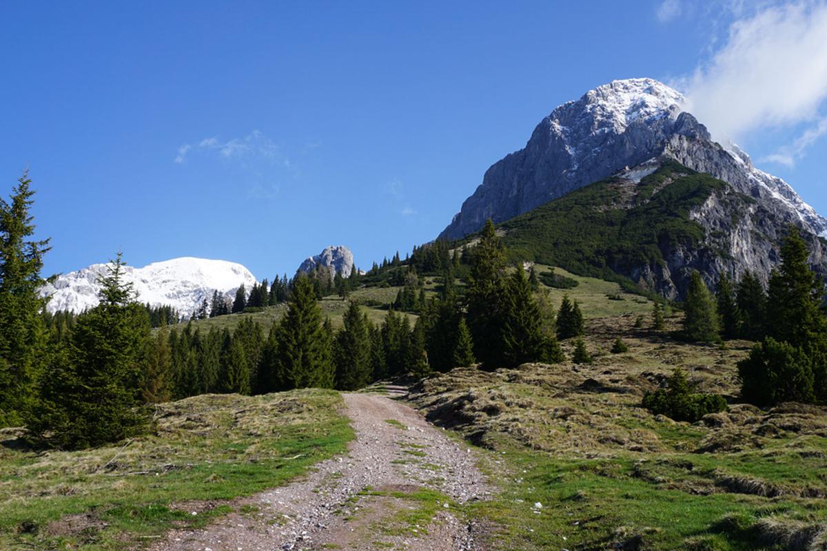Zur Werfener Hütte führen verschiedene gut markierte Wanderwege; auch über Werfenweng